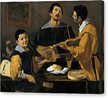 The Three Musicians Canvas Print by Diego Velazquez