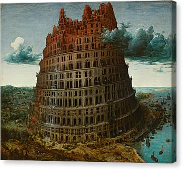 Bruegel Canvas Print - The Tower Of Babel by Pieter Bruegel the Elder