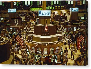 The Trading Floor Of The New York Stock Canvas Print