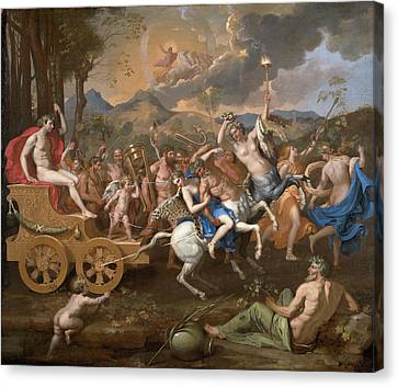 The Triumph Of Bacchus Canvas Print by Nicolas Poussin