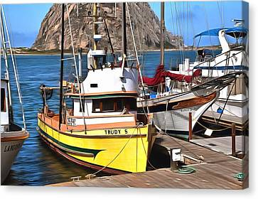 The Trudy S Morro Bay California Painting Canvas Print by Barbara Snyder