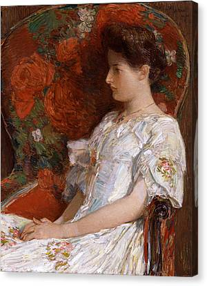 The Victorian Chair Canvas Print by Childe Hassam