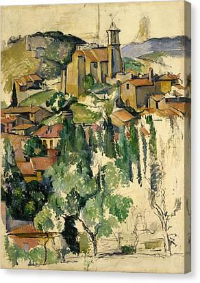 The Village Of Gardanne  Canvas Print by Paul Cezanne