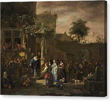 The Village Wedding Canvas Print by Jan Steen