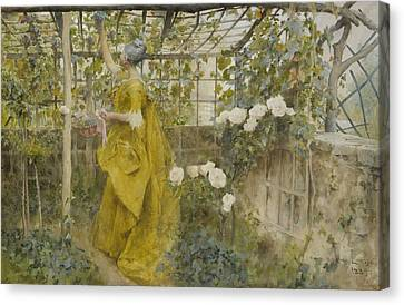 The Vine Canvas Print by Carl Larsson