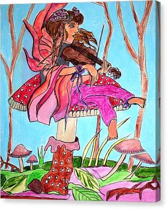 The Violinist Fairy Canvas Print