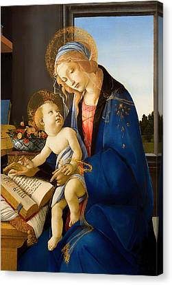 The Virgin And Child Canvas Print by Mountain Dreams