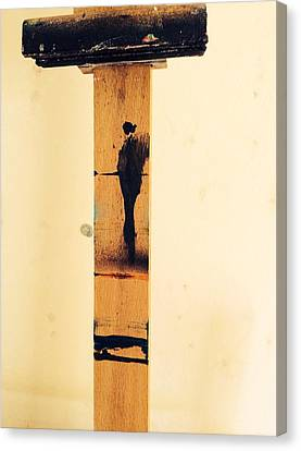 Banksy Canvas Print - The Walker by Lowkey Luciano