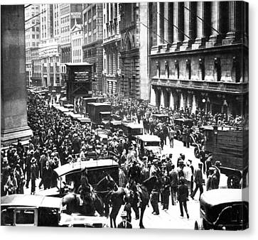 The Wall Street Crash 1929 Canvas Print by American School