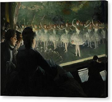 The White Ballet Canvas Print by Everett Shinn