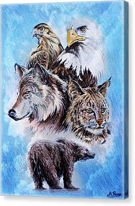 The Wildlife Collection Canvas Print by Andrew Read