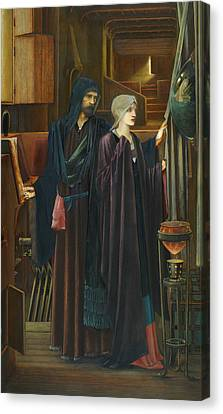 The Wizard Canvas Print by Edward Burne-Jones
