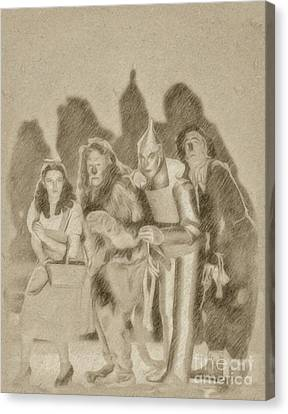 The Wizard Of Oz Cast Canvas Print by Frank Falcon