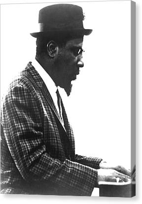 Thelonius Monk 1917-1982jazz Pianist Canvas Print by Everett
