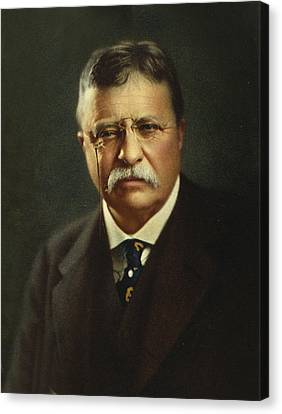 Famous People Canvas Print - Theodore Roosevelt - President Of The United States by International  Images