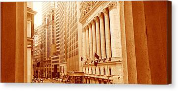 This Is A Sepiatone View Looking Canvas Print by Panoramic Images