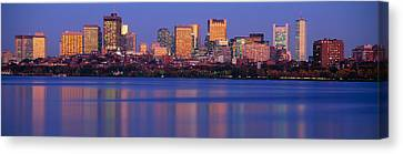 This Is The State Capitol And Skyline Canvas Print by Panoramic Images