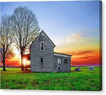This Old House Canvas Print by Steven  Michael