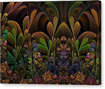 Canvas Print featuring the digital art This Peculiar Life - Fractal Art by NirvanaBlues