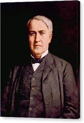 Thomas Alva Edison 1847-1931 Canvas Print by Everett