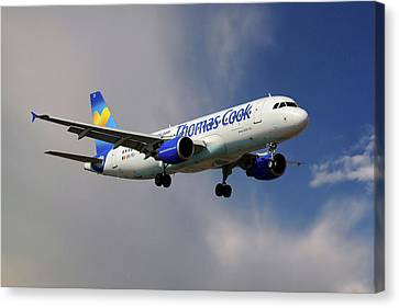 Airlines Canvas Print - Thomas Cook Airlines Airbus A320-214 by Nichola Denny