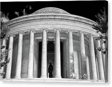 Canvas Print featuring the photograph Thomas Jefferson Memorial  by Mitch Cat