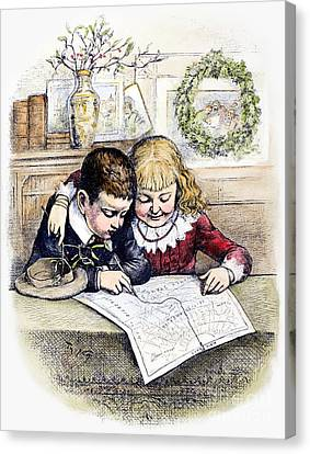 Thomas Nast: Christmas Canvas Print by Granger