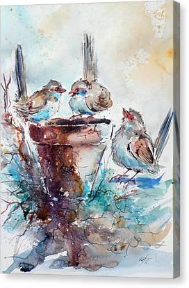 Three Birds Canvas Print by Kovacs Anna Brigitta