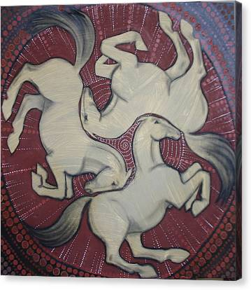 Three Horses Canvas Print by Sophy White