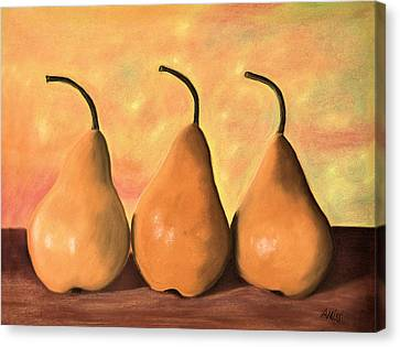 Three Of A Kind Canvas Print by Jan Amiss