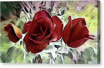 Three Roses Canvas Print by S Art