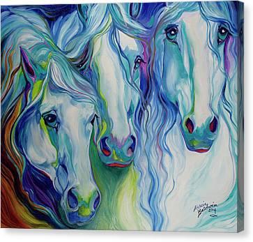 Canvas Print - Three Spirits Equine by Marcia Baldwin