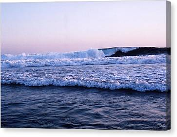 Canvas Print featuring the photograph Three Waves by Lyle Crump