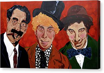 Canvas Print - Three's Comedy by Bill Manson