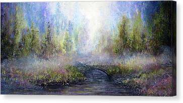 Through The Mist Canvas Print by Ann Marie Bone