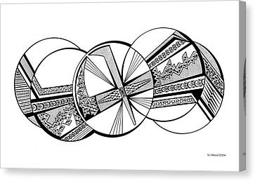 Thunderbird, Black And White Canvas Print