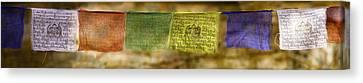 Tibetan Prayer Flags Canvas Print by Peter v Quenter
