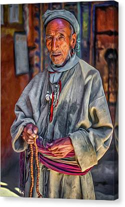 Tibetan Canvas Print - Tibetan Refugee - Paint by Steve Harrington