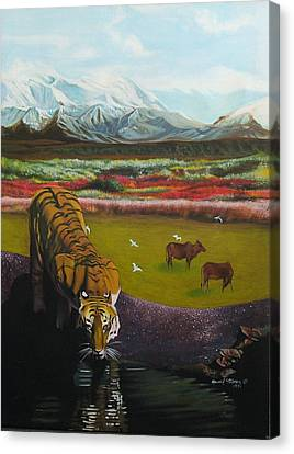 Tiger Canvas Print by Howard Stroman
