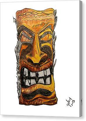 Tiki Art Canvas Print by W Gilroy