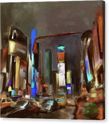 Newyork Canvas Print - Times Square 561 3 by Mawra Tahreem