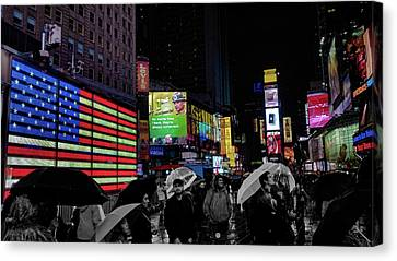 Times Square Canvas Print by Martin Newman