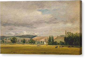 Title Dedham Vale With The House Canvas Print