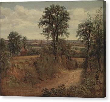 Title Lane Near Dedham Canvas Print