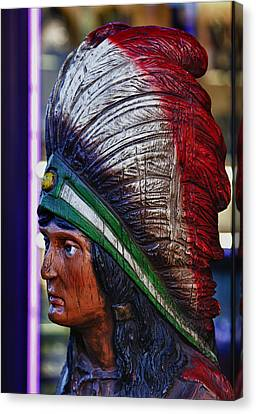 Tobacco Store Indian Canvas Print by Robert Ullmann