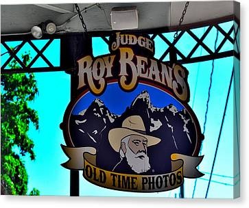 Judge Roy Bean Canvas Print - Todays Art 1301 by Lawrence Hess