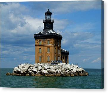 Toledo Harbor Lighthouse Canvas Print by Michiale Schneider