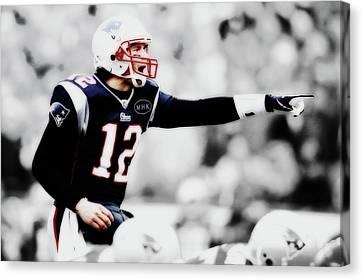 Tebow Canvas Print - Tom Brady Air Traffic Controller by Brian Reaves