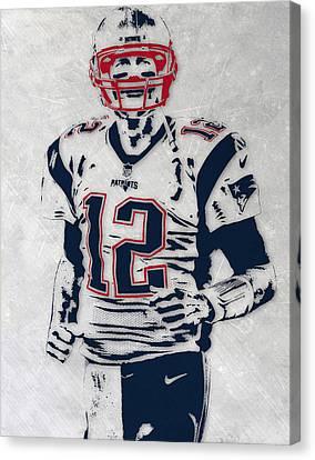 Tom Brady New England Patriots Pixel Art 5 Canvas Print by Joe Hamilton