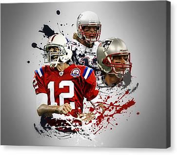 Tom Brady Patriots Canvas Print by Joe Hamilton